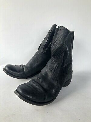 A diciannoveventitre Textured Horsehide Pull On Boots Size 43