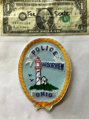 Harborview Ohio Police Patch  un-sewn in mint shape