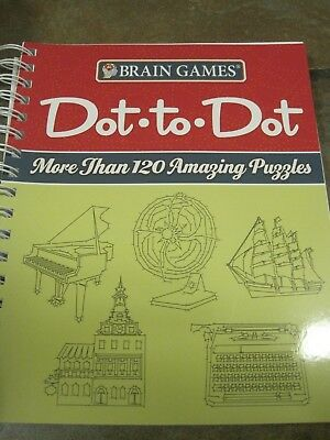 BRAIN GAMES DOT-TO-DOT: MORE THAN 120 AMAZING PUZZLES, NEW! - Dot To Dot Game