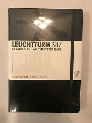 Leuchtturm 1917 Medium Size Hardcover A5 Notebook Dotted Pages - Black