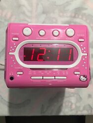 Hello Kitty AM/FM Radio CD Player Alarm Clock Model KT2053A Tested