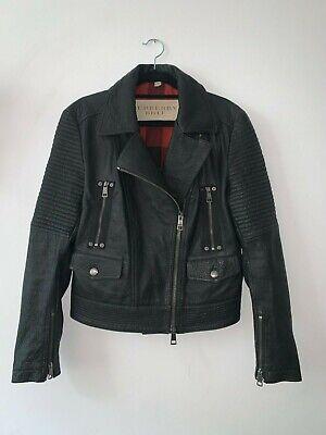 BURBERRY BRIT - Leather biker jacket - UK 8