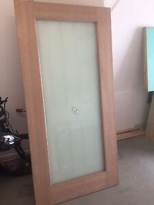 $200 Entry door. Entrance. Opaque glass glazed 2040x1000mm wide. 35mm Mango Hill Pine Rivers Area Preview