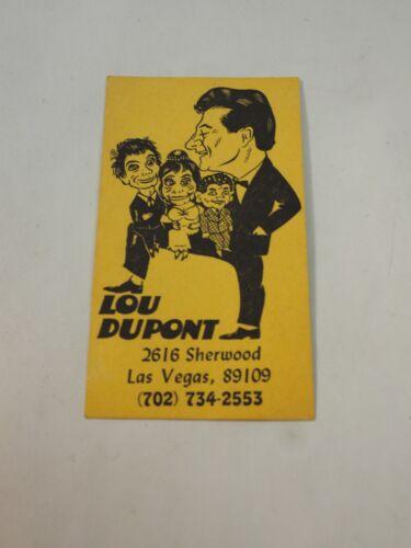 Lou DuPont Personal Las Vegas Renown Ventriloquist Business Card