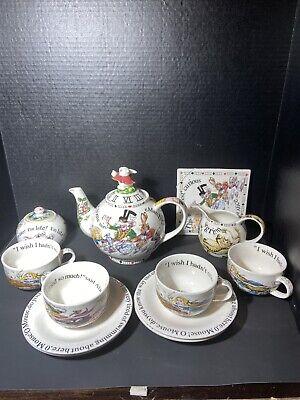 Vintage Paul Cardew ALICE IN WONDERLAND Full-Sized 12 Piece Tea Set - England