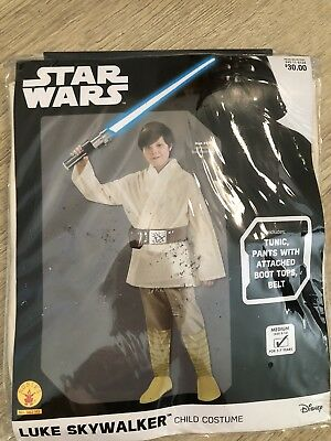 Disney Luke Skywalker Child Kids Rubies Costume Med 5-7 Years New