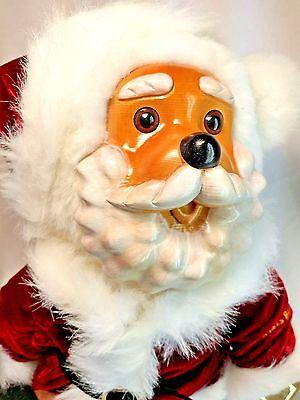 """Applause Vintage 1990 Raikes Bears LE Kris Kringle Christmas 14"""" Wood & Plush"""