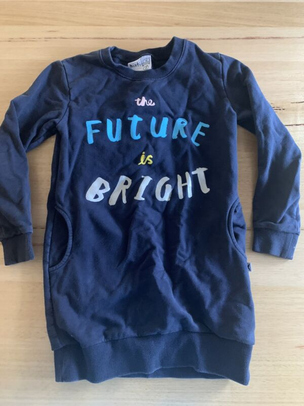 Minti The Future Is Bright Crew Dress size 8 VGUC RRP $64.95