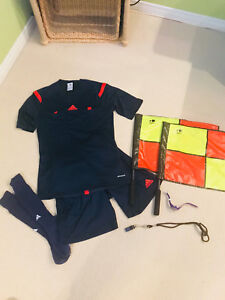 Adidas Referee Soccer Outfit, Flags, Whistle