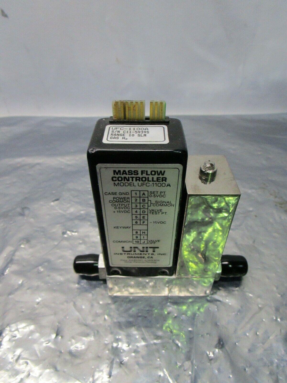 Unit UFC-1100A Mass Flow Controller, MFC, H2, 10 SLM, 421108