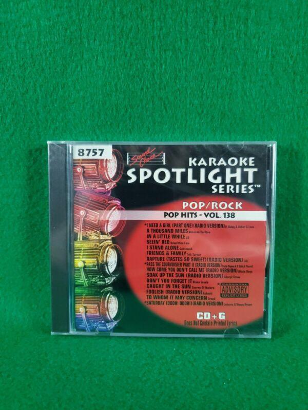 Karaoke Spotlight Series CD+G Sound Choice Disc 8757 Pop Hits Vol. 138