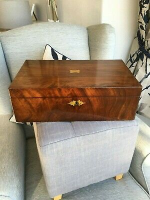 Antique mahogany writing slope restored in excellent condition.
