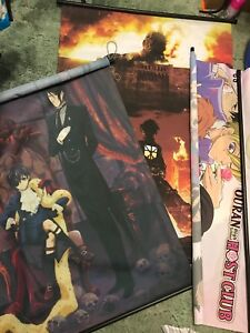 Anime wall scrolls 1 for 5$or 3 for 10$