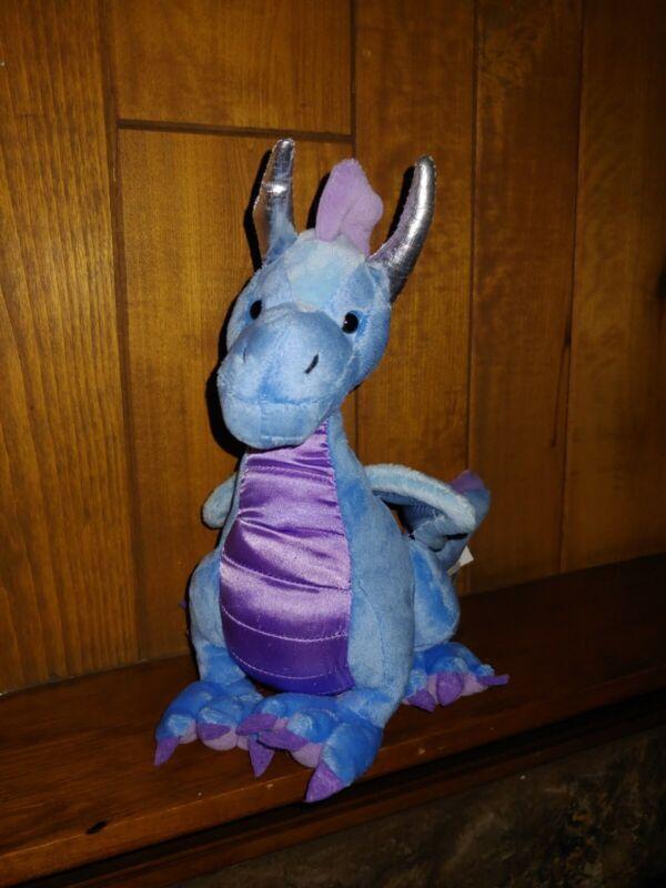 "Webkinz Twilight Dragon 9"" Plush Blue Stuffed Animal NO Code"