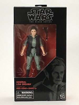 STAR WARS The Black Series General Leia Organa 6-Inch Action Figure SEALED NIB