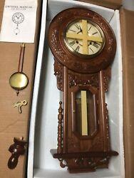 "Regulator Wall Clock 35"" Vintage 80s New In Box"