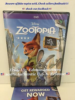 Zootopia 2016 DVD 100% AUTHENTIC (BEWARE OF CHEAP FAKES SOLD W/O DISNEY REWARDS) - Cheap Disney Movies