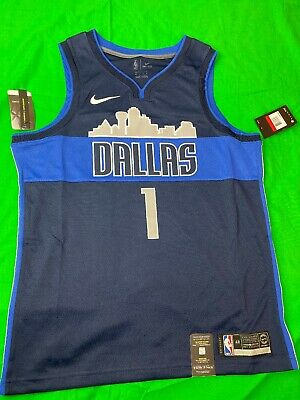 NIKE Men NBA Dallas Mavericks Dennis Smith Jr Swingway Jersey Large Size 48