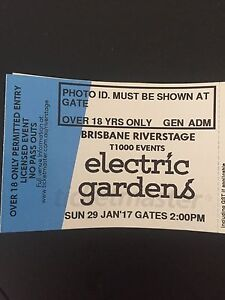 SELLING 1 x ELECTRIC GARDENS BRISBANE HARDCOPY TICKET Varsity Lakes Gold Coast South Preview