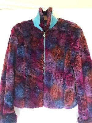 Versace Jeans Couture Vintage Faux Fur And Suede Jacket