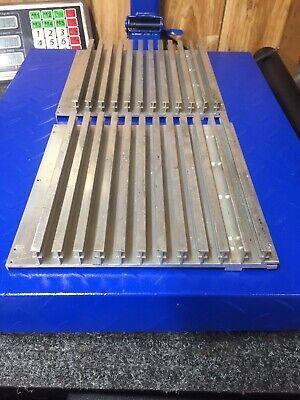 Lot Of 2 Large Reclaimed Extruded Aluminum Heatsink 8.8 X 8.3 X 1 3.95 Lbs