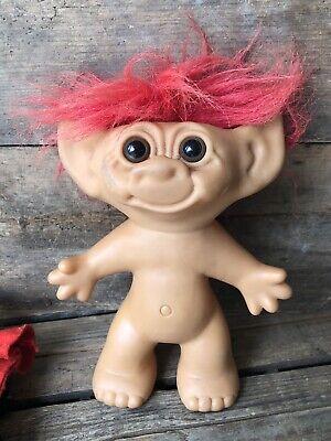 Rare Vintage 90s Wishnik Uneeda Troll Doll Red Hair Canadian Mountie Royal Guard