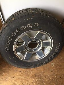 Firestone trans force ht 265 70 17 and rims