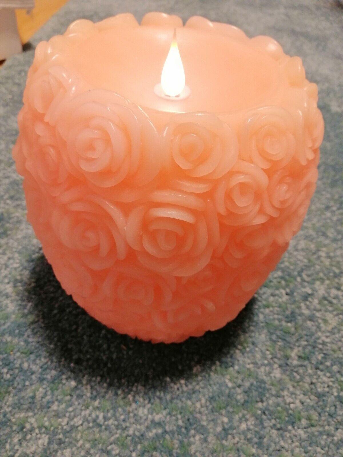 12 cm /%/%/% /%/%/% ELAMBIA 2 Flammenlose Kerzen Hortensien 2 Stück lila ca