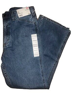 Uniqlo Women Wide Fit Curved Jeans 65 Blue 27x32 Inch NWT