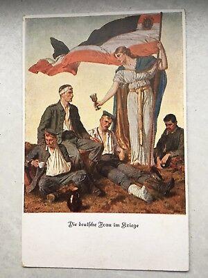 """Militär-Postkarte """"Die deutsche Frau im Kriege"""" Bayrisches Rotes Kreuz Bayern"""
