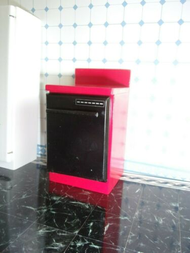DISHWASHER - RED  -  FOR YOUR DOLL HOUSE   KITCHEN
