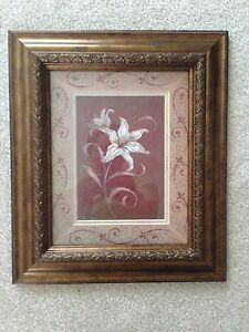 Wood frame flower pictures