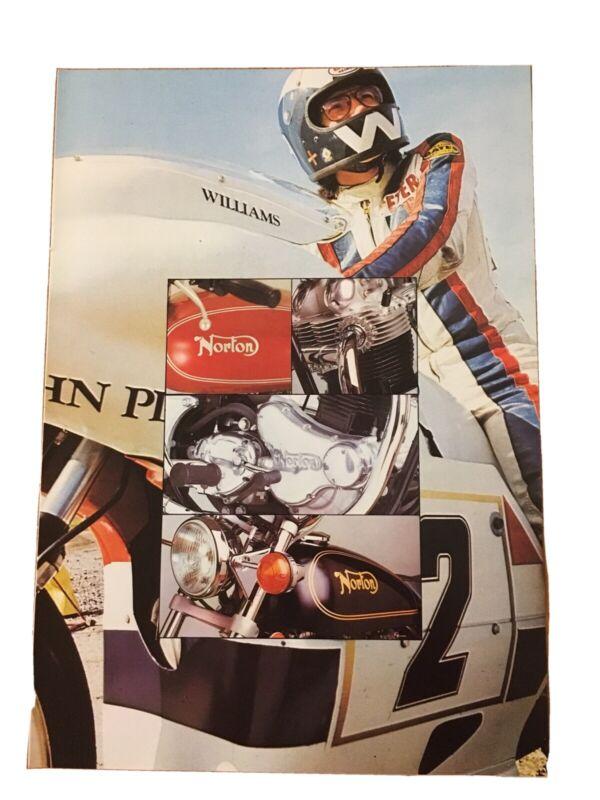 Norton Motorcycle Commando 850 Dealership Brochure 1973 Vintage Advertising