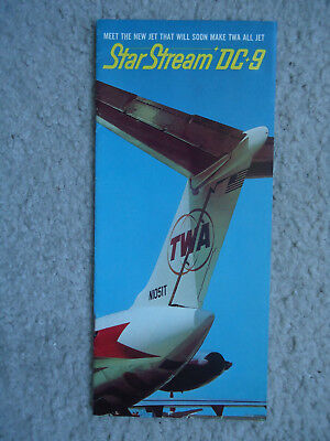 TWA - McDonnell Douglas -Star Stream DC-9 - Introduction Brochure - 1965