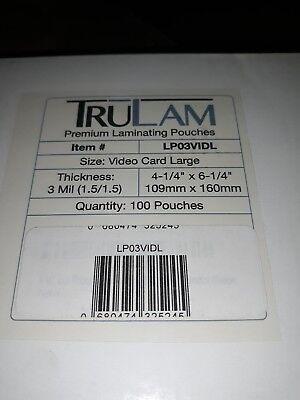 TruLam Premium 10 Mil Hot Laminating Pouches 4-1/4 x 6-1/4 Qty 100