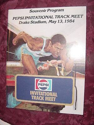 PEPSI Invitational Track & Field MEET Drake Stadium May 13 1984 PROGRAM