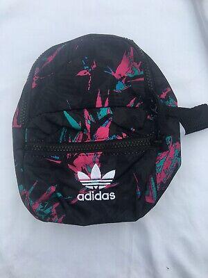 Adidas Originals BP Mini Classic Backpack Multi Womens Trefoil Logo Bag FU1170