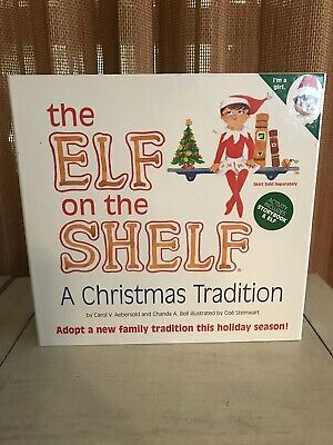 ELF ON THE SHELF A Christmas Tradition Doll & Book Box Set Girl Blue Eyes