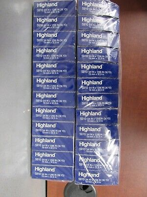 Lot Of 24 Rolls Of Highland 5910 Transparent Tape 34 X 1296 26e