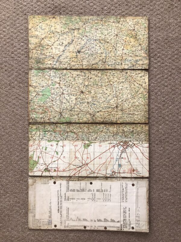 SUPERB WW1 British Battle Of The Somme Dated Arras Cambrai Artillery Trench Map