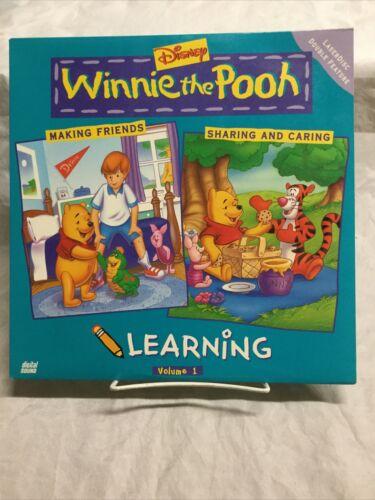 Disney s Winnie The Pooh Learning Volume 1 Laserdisc Vintage Untested - $39.98