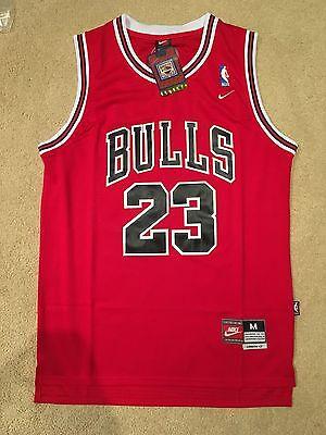 Throwback Swingman Basketball Jersey Michael Jordan 23 Chicago Bulls Red Mens
