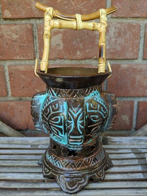 Doug Horne 2nd Edition Tiki Mug Lantern Limited Edition Bamboo Signed New