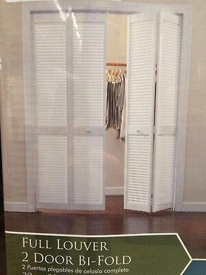 30 inch woodgrain doors 2 panel louver solid core wood closet bifold door QTY 2 - Louvered Bifold Closet Doors