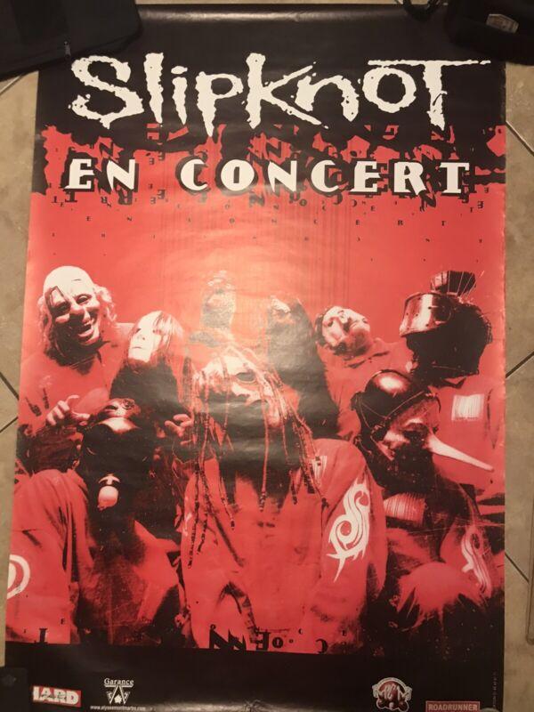 "Slipknot European Tour Promo Poster 2000. ""En Concert"" RARE"