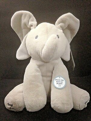 "Gund 12"" Flappy the Elephant Animated Plush Elephant Baby Plays Peek A Boo Sings"