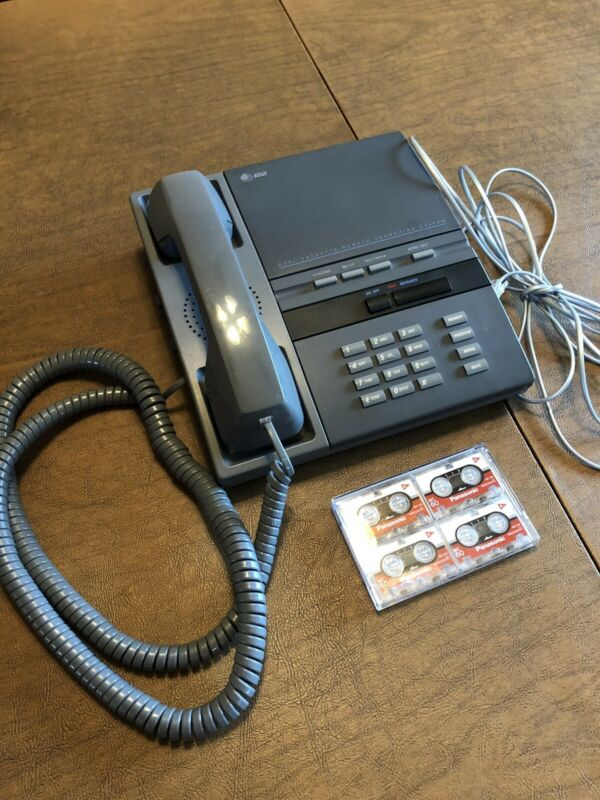 Vintage AT&T Remote Answering System 1506 Telephone w/ 4 New Mini Cassettes