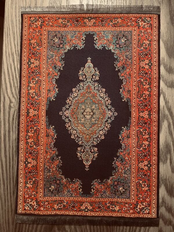 Victorian Dollhouse Miniature Woven Area Rug 12x8  #2008 FREE SHIPPING