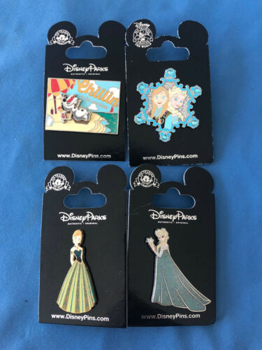 FROZEN ANNA ELSA OLAF Disney Pin LOT of 4 pins Set  #6  NEW on  Cards AUTHENTIC