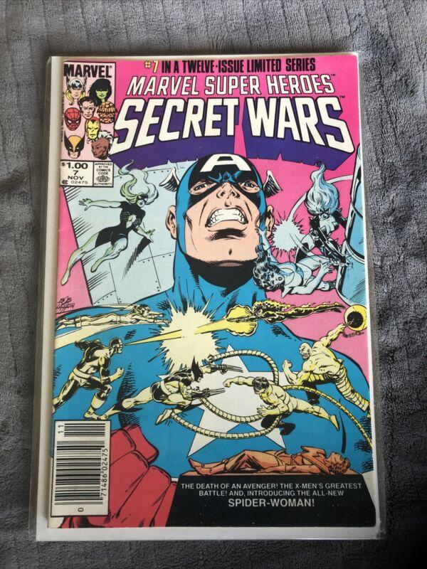 SECRET WARS #7 canadian price variant. 1st Julia Carpenter Spider Woman. 1984